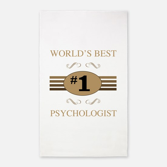 World's Best Psychologist 3'x5' Area Rug