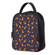 Candy corn and stars Neoprene Lunch Bag