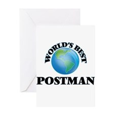 World's Best Postman Greeting Cards