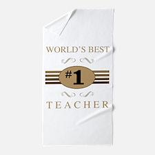 World's Best Teacher Beach Towel
