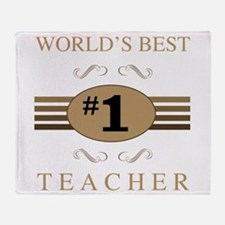 World's Best Teacher Throw Blanket