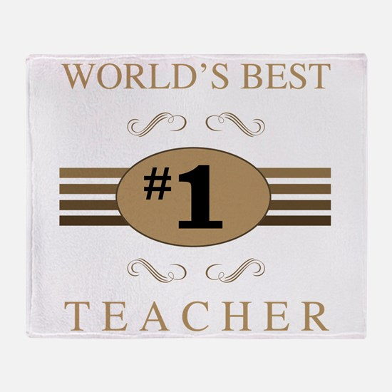 World's Best Teacher Throw Blanket