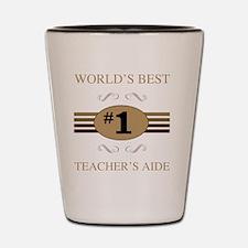 World's Best Teacher's Aide Shot Glass