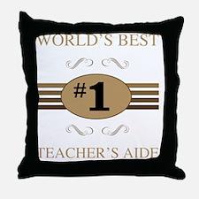 World's Best Teacher's Aide Throw Pillow