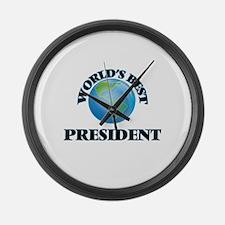 World's Best President Large Wall Clock