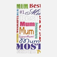 Text Mum Beach Towel