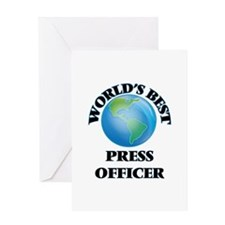 World's Best Press Officer Greeting Cards