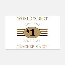 World's Best Teacher's Aide Car Magnet 20 x 12