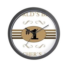 World's Best Teacher's Aide Wall Clock