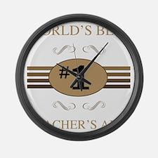 World's Best Teacher's Aide Large Wall Clock