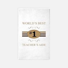 World's Best Teacher's Aide 3'x5' Area Rug