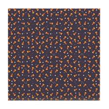 Candy corn and stars Tile Coaster