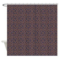 Candy corn and stars Shower Curtain