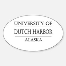 University of Dutch Harbor Oval Decal