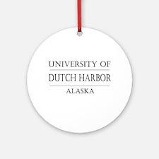 University of Dutch Harbor Ornament (Round)