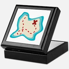 The Pirate Map Keepsake Box