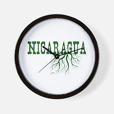 Nicaragua Roots Wall Clock
