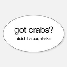 Got Crabs? Oval Decal