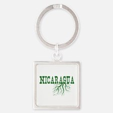 Nicaragua Roots Square Keychain