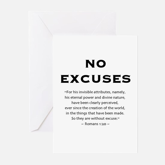 No Excuses - Greeting Cards (Pk of 10)
