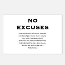No Excuses - Postcards (Package of 8)