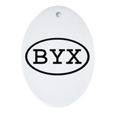 BYX Oval Oval Ornament