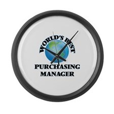 World's Best Purchasing Manager Large Wall Clock