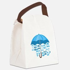 Rain Go Away Canvas Lunch Bag
