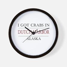 Dutch Harbor Alaska Wall Clock
