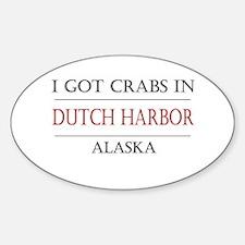 Dutch Harbor Alaska Oval Decal