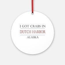 Dutch Harbor Alaska Ornament (Round)