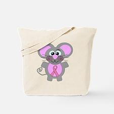 Pink Awareness Ribbon Mouse Tote Bag