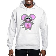 Pink Awareness Ribbon Mouse Hoodie