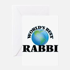 World's Best Rabbi Greeting Cards