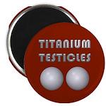 """Titanium Testicles 2.25"""" Magnet (10 pack)"""