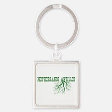 Netherlands Roots Square Keychain