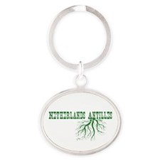 Netherlands Roots Oval Keychain