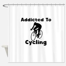 Addicted To Cycling Shower Curtain