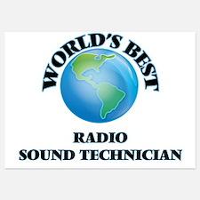 World's Best Radio Sound Technician Invitations