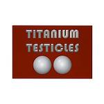 Titanium Testicles Rectangle Magnet (100 pack)