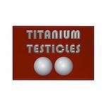 Titanium Testicles Rectangle Magnet (10 pack)