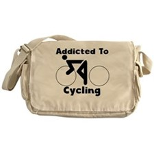 Addicted To Cycling Messenger Bag