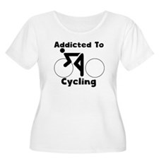 Addicted To Cycling Plus Size T-Shirt