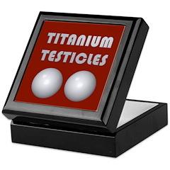 Titanium Testicles Keepsake Box