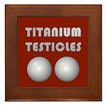Titanium Testicles Framed Tile