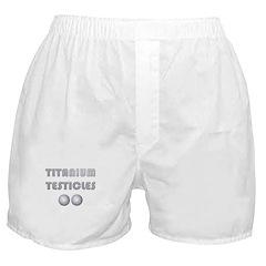 Titanium Testicles Boxer Shorts