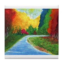 Autumn Stream Tile Coaster