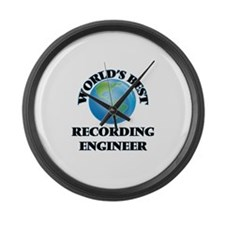 World's Best Recording Engineer Large Wall Clock