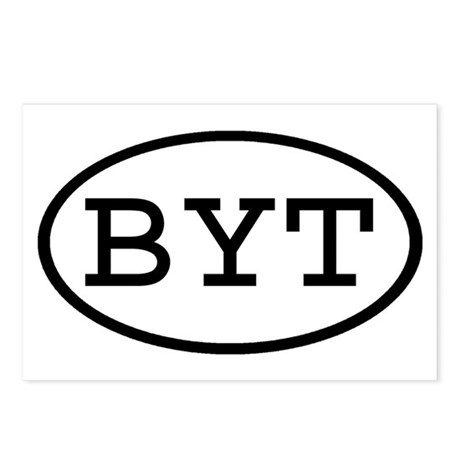 BYT Oval Postcards (Package of 8)