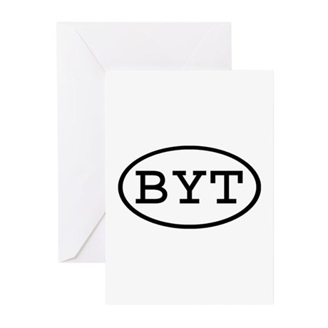 BYT Oval Greeting Cards (Pk of 10)